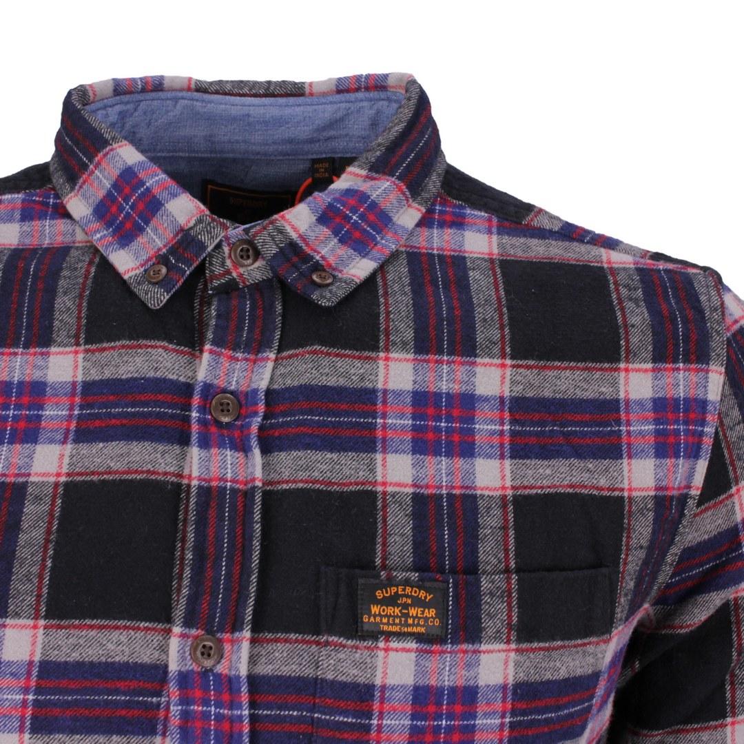 Superdry Freizeithemd mehrfarbig kariert M4010460A 6CT Hatton Check navy Heritage Lumber Jack Shirt