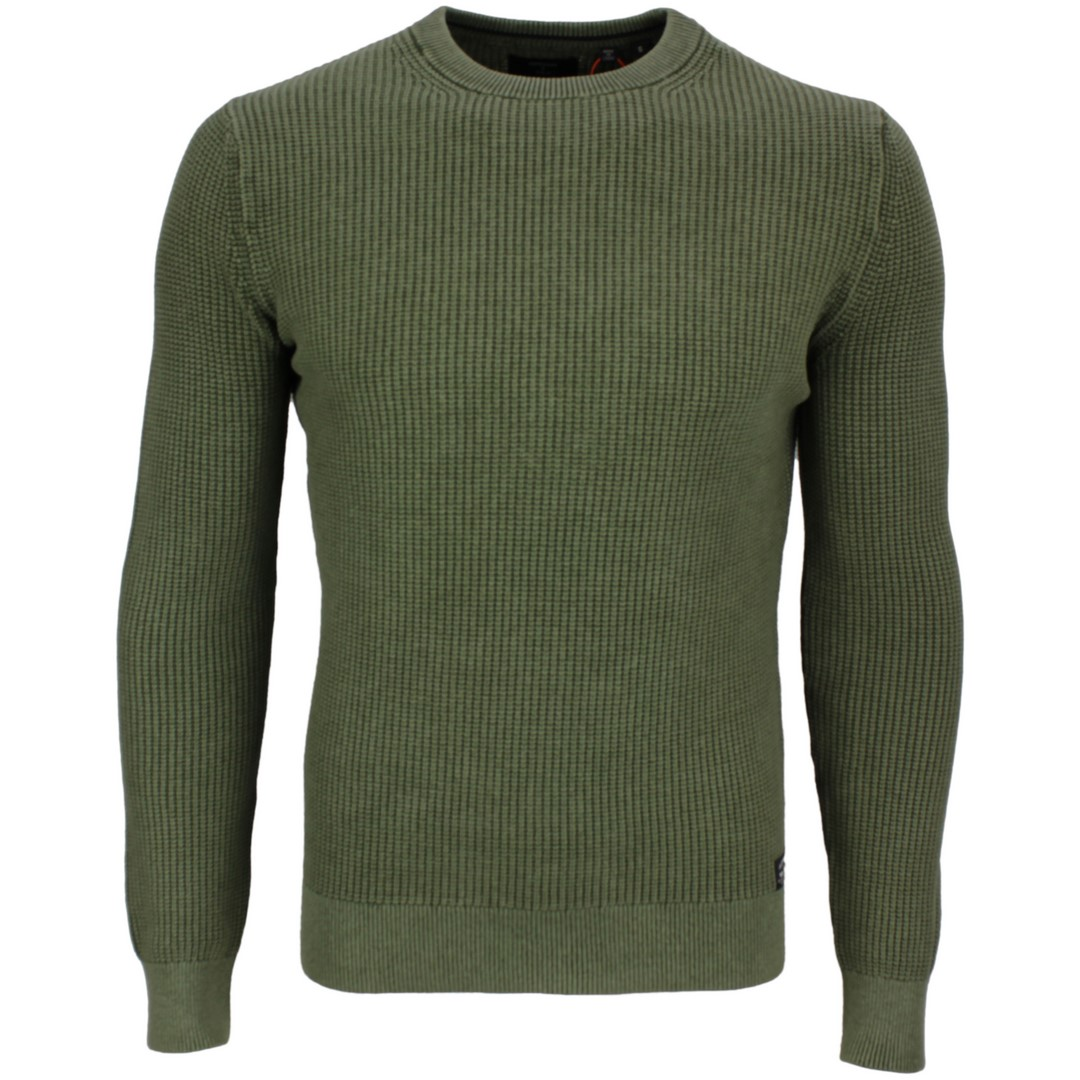 Superdry Strick Pullover Academy Dyed grün M6110037A 3RC washed dark olive  green