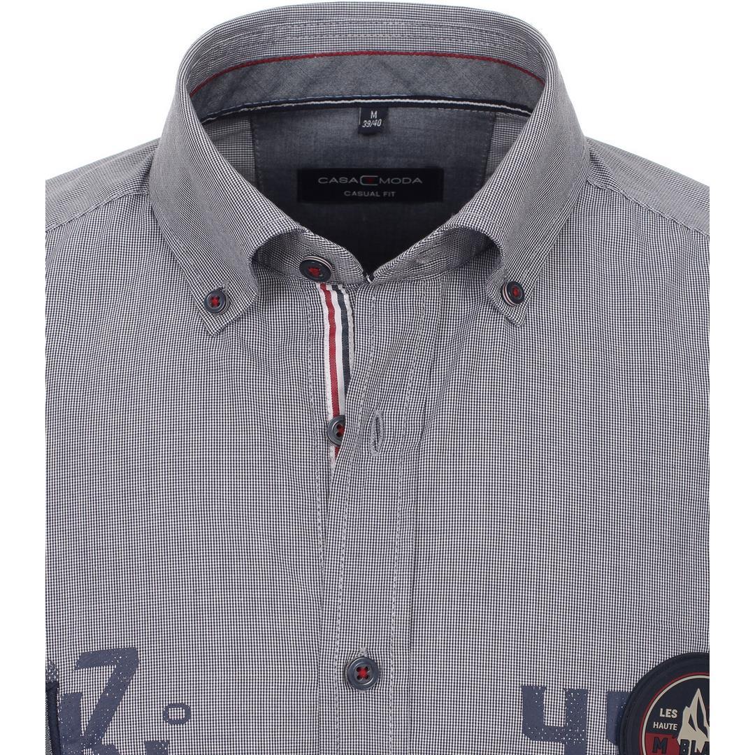Casa Moda Herren Freizeithemd Langarm blau 413719200 100