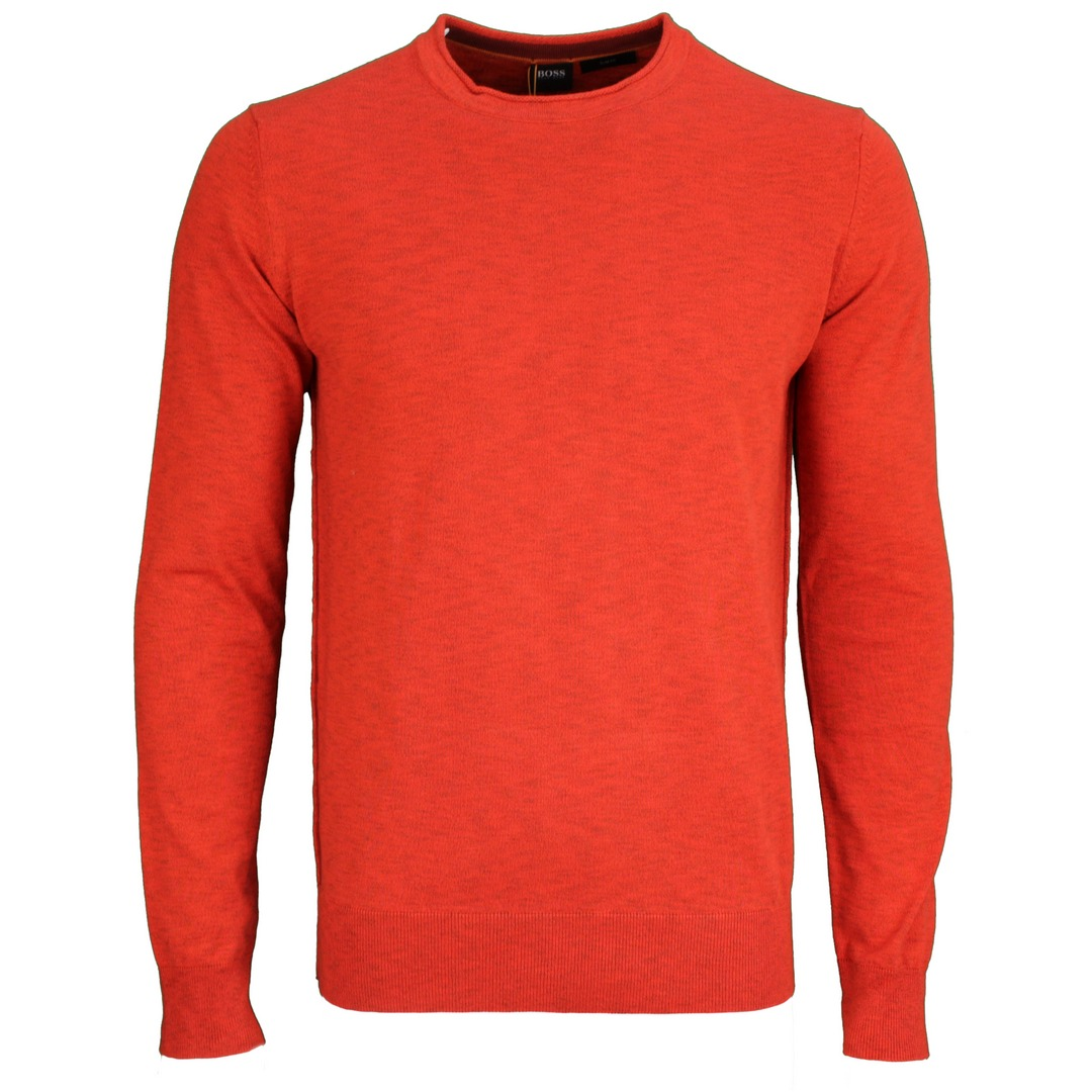 Hugo Boss Langarm Strick Shirt Strickshirt Langarm 50454925 821 bright orange Kamnioda