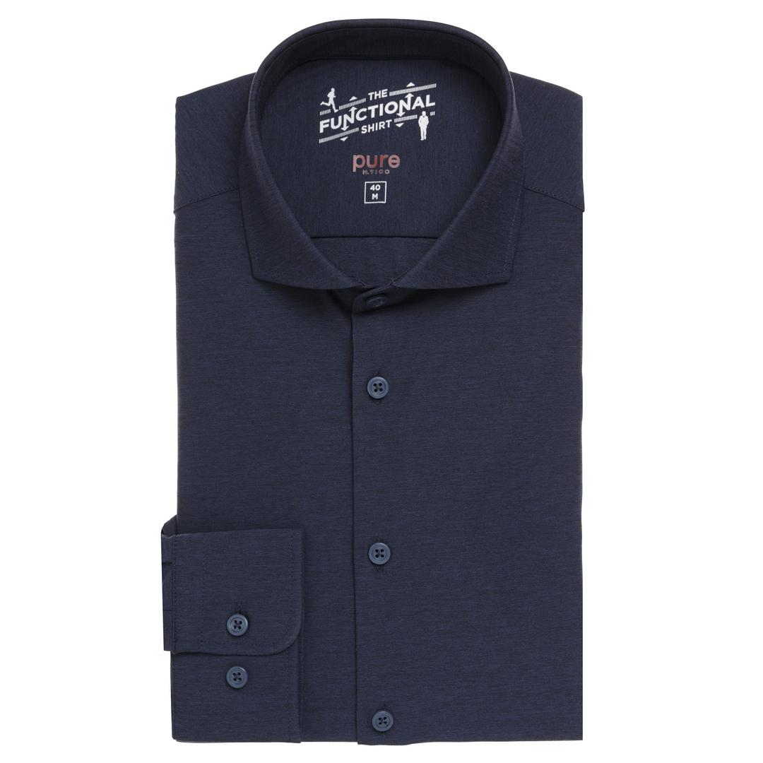 Pure Herren Functional Hemd dunkel blau unifarben 3386 21150 139