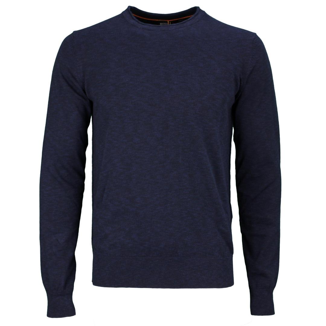 Hugo Boss Langarm Strick Shirt Strickshirt Langarm 50454925 404 dark blue Kamnioda