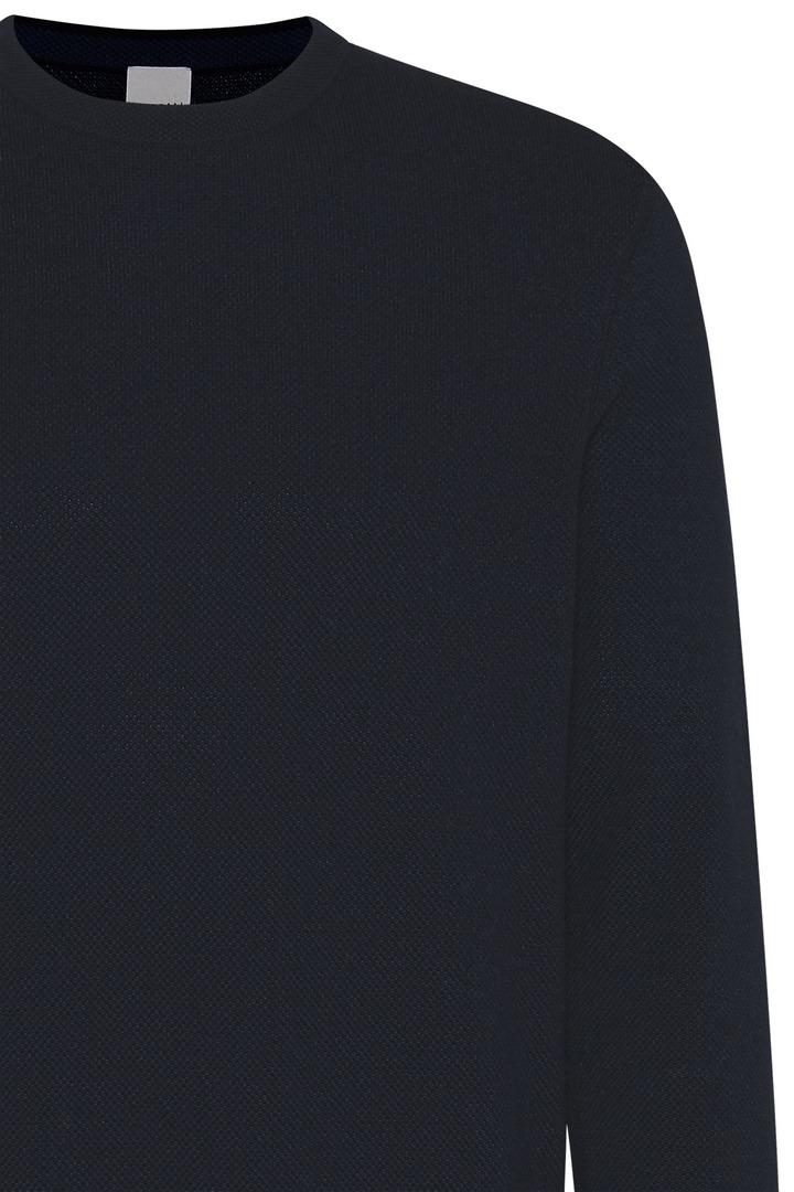 Bugatti Herren Strick Pullover dunkelblau unifarben 85523 7400 390 marine