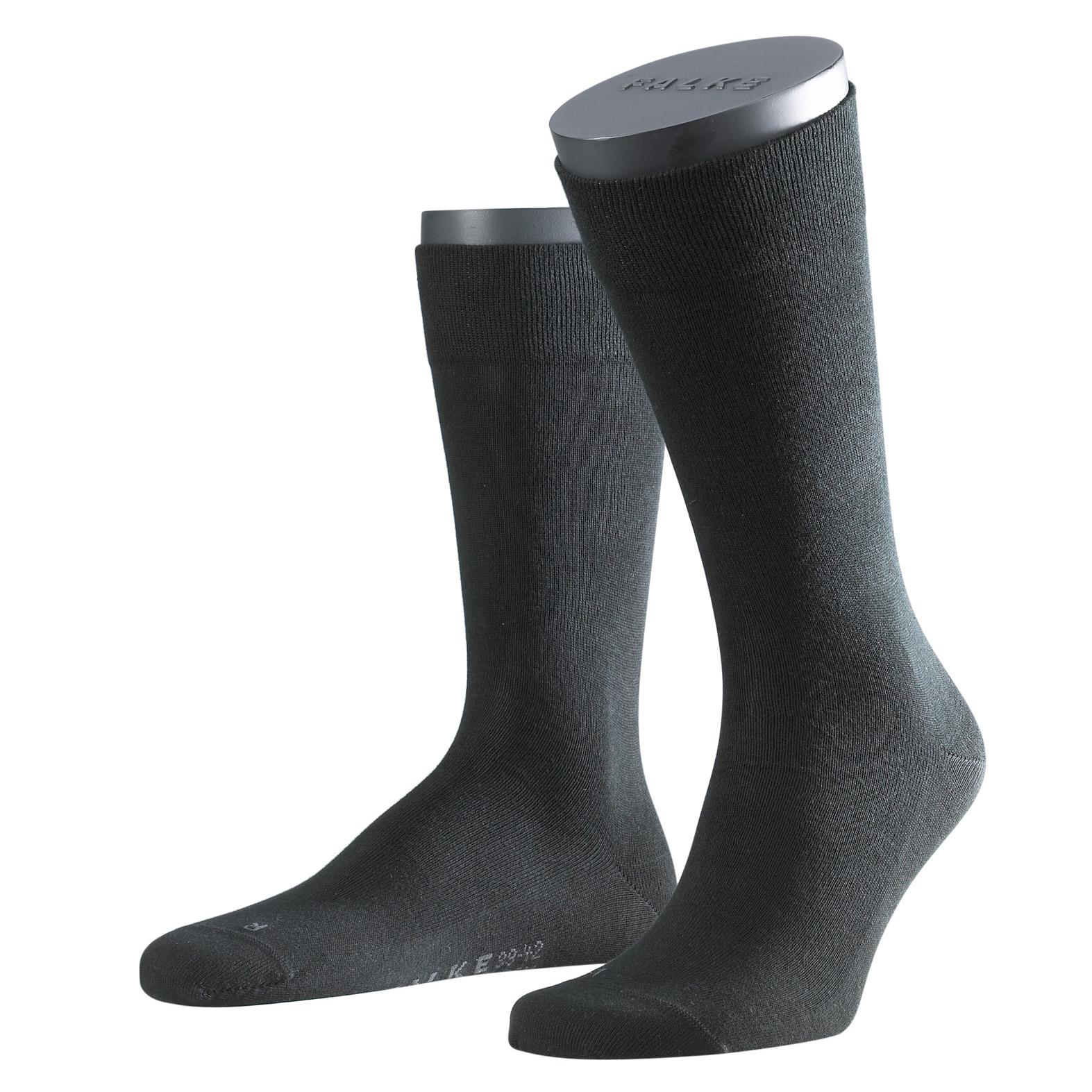 Falke Sensitive Socke London schwarz 14616 - 3000 Basic Baumwolle