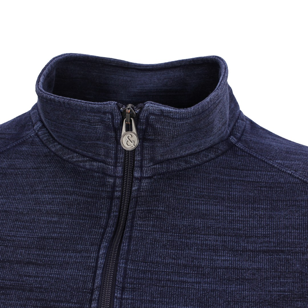 Colours & Sons Herren Sweatshirt Halfzip blau unifarben 9221 431 699 navy