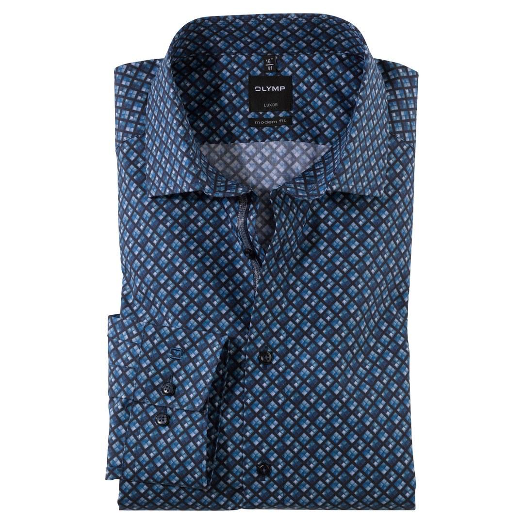 Olymp Luxor Hemd langarm Langarmhemd Businesshemd Modern fit 131284 18 marine
