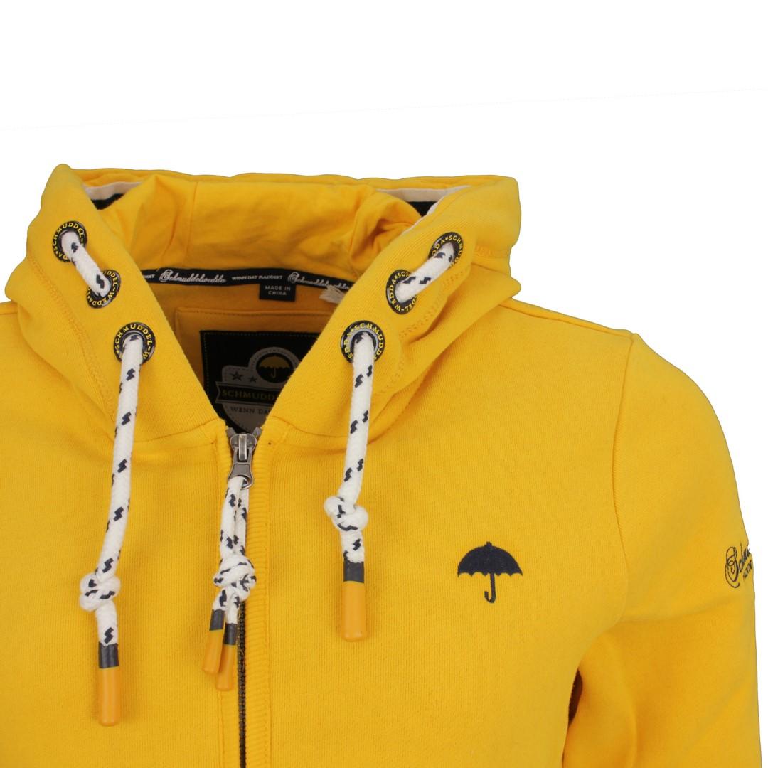 Schmuddelwedda Damen Sweat Jacke Senf gelb unifarben 34612143 senf