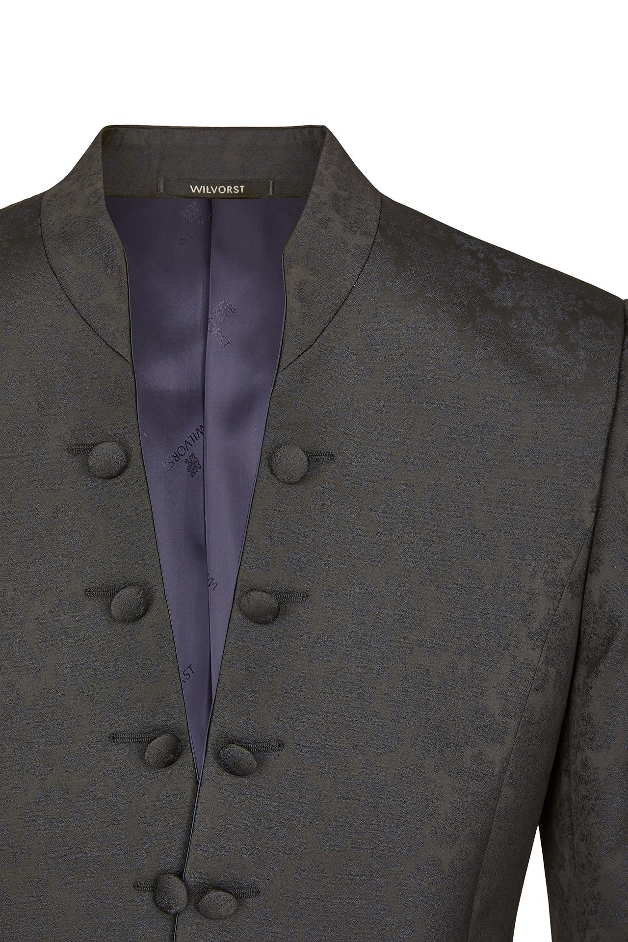 Wilvorst Herren Hochzeitsanzug Sakko dunkel blau Jacquard 491103 13719 030
