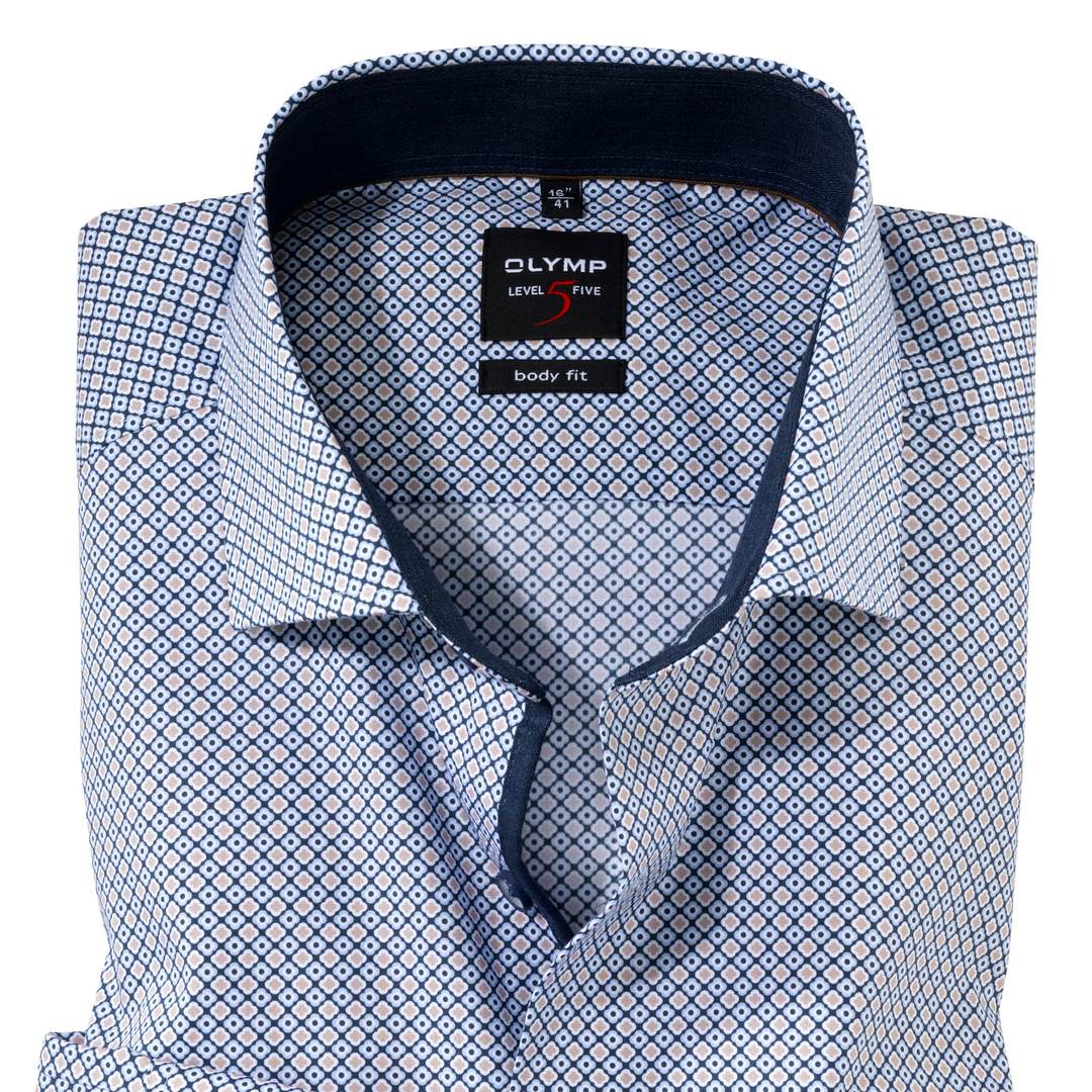 Olymp Level 5 Body Fit Business Hemd Extra langer Arm Langarmhemd 209889 28 braun