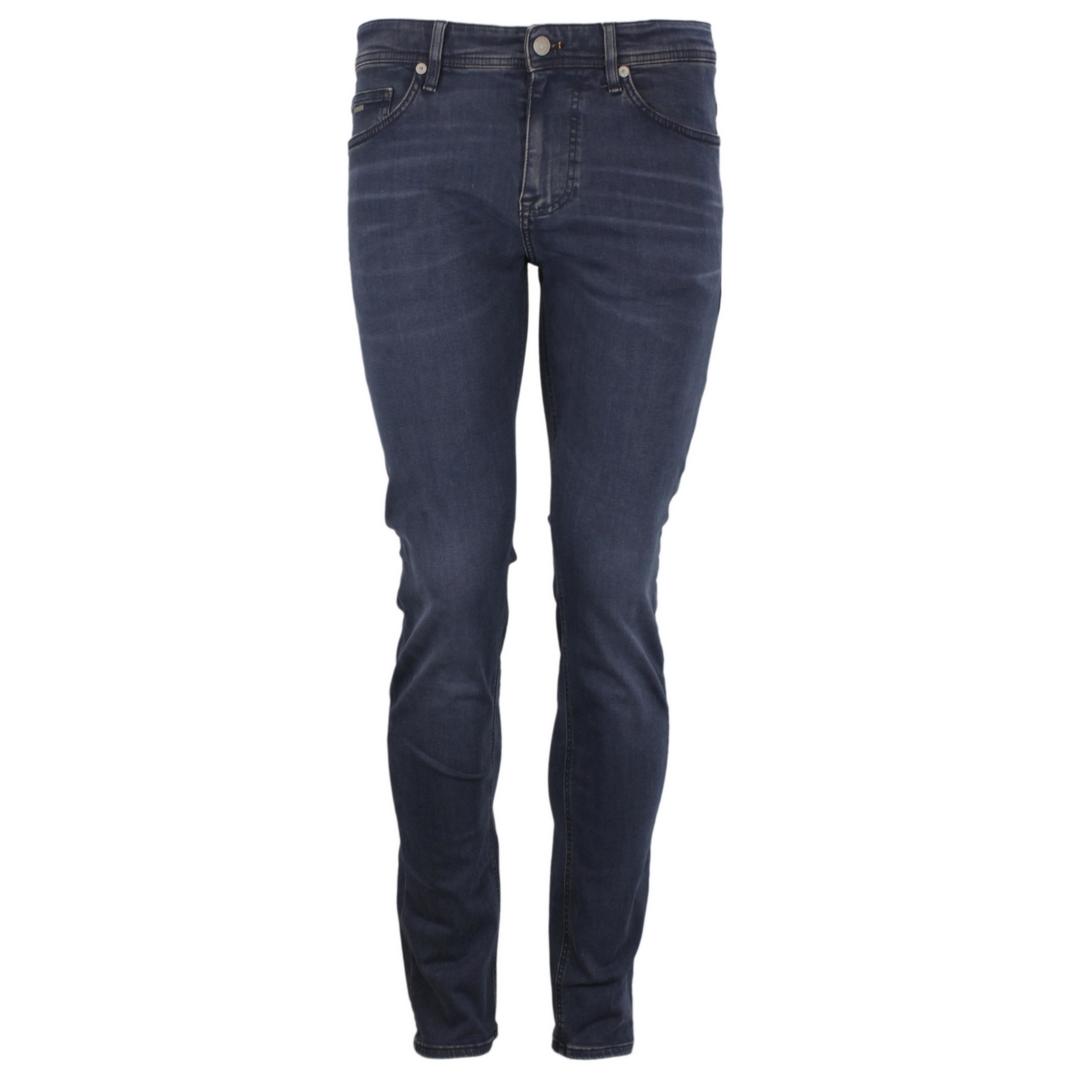 Hugo Boss Jeans Hose Slim Fit Super Stretch dunkleblau Delaware 50458323 411