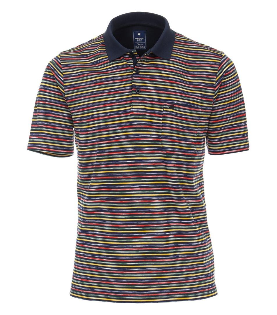 Redmond Polo Shirt mehrfarbig gestreift 211880900 10 BLAU