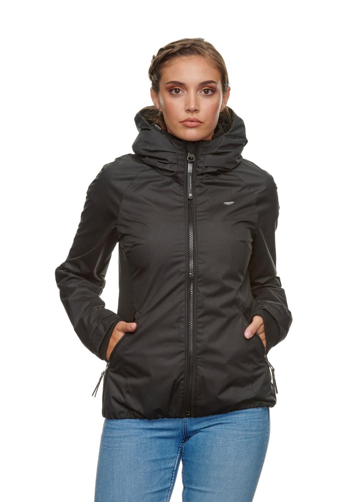 Ragwear Damen Sommer Jacke schwarz unifarben Dizzie 2111 60007 1010 black