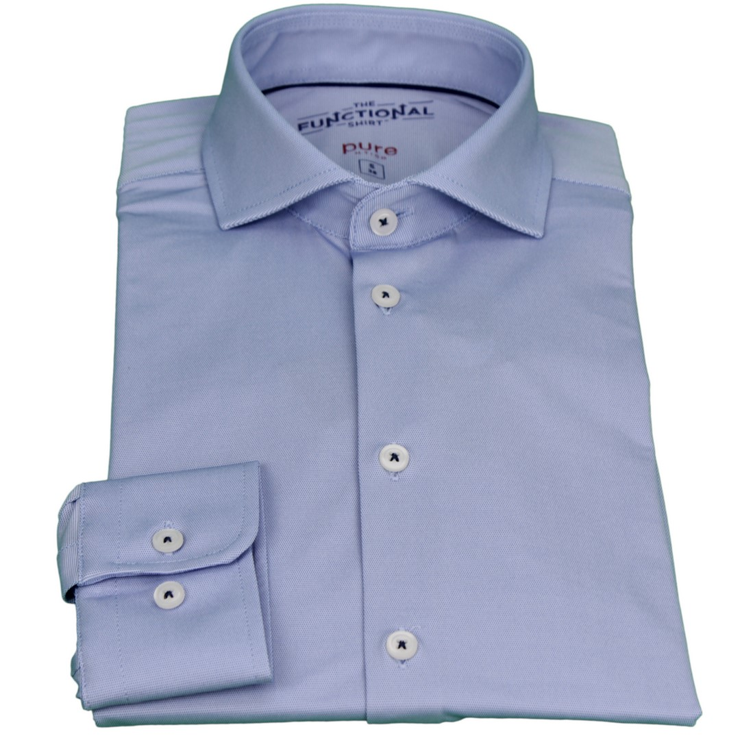 Pure Herren Functional Hemd blau unifarben 4035 21750 110