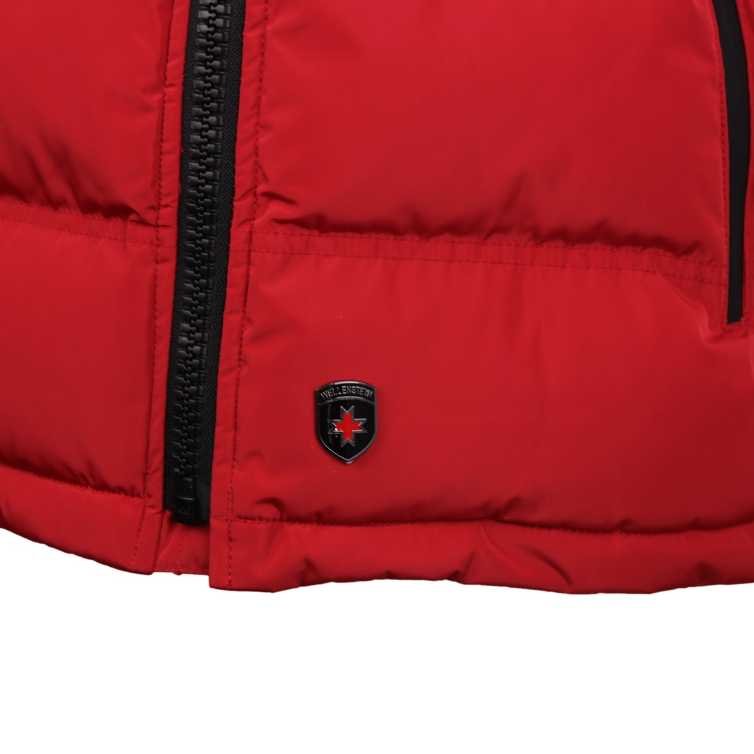 Wellensteyn Herren Weste Snowdome Vest Men rot Unifarben SNVM 560 red