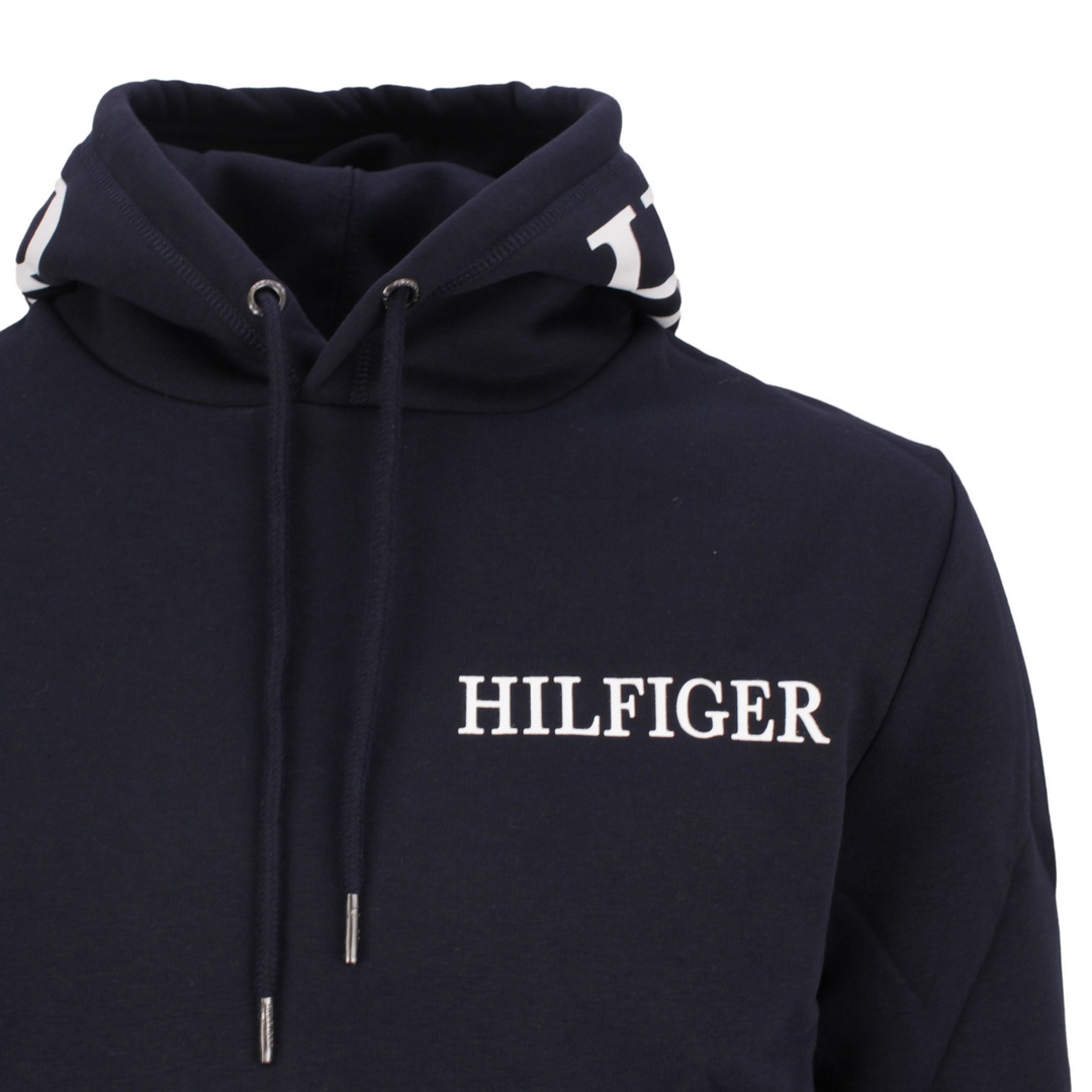 Tommy Hilfiger Sweatshirt Kapuzenpullover MW0MW21424 DW5 Blue Desert Hilfiger Logo ON Hood