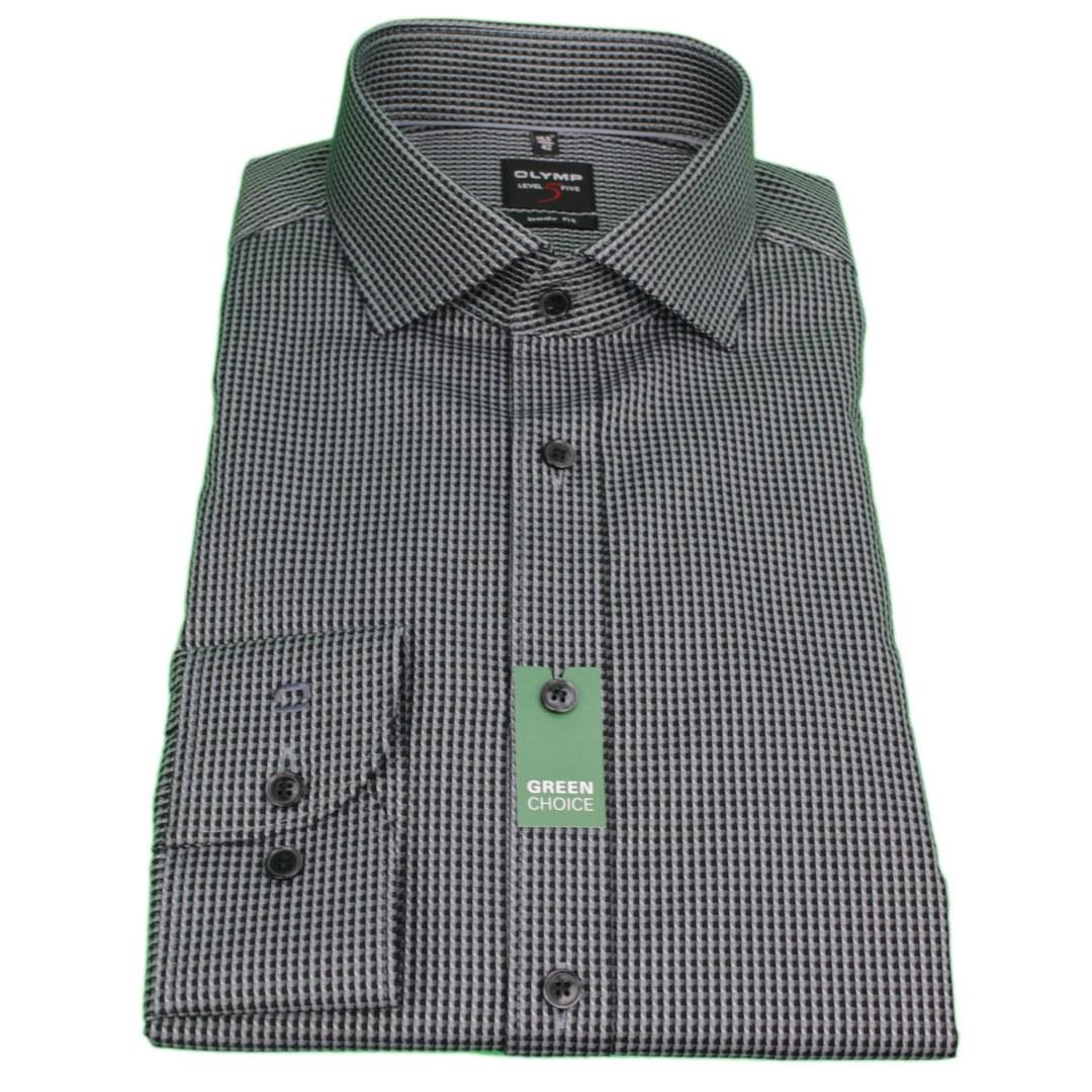 Olymp Body Fit Hemd Level 5 Minimal Muster