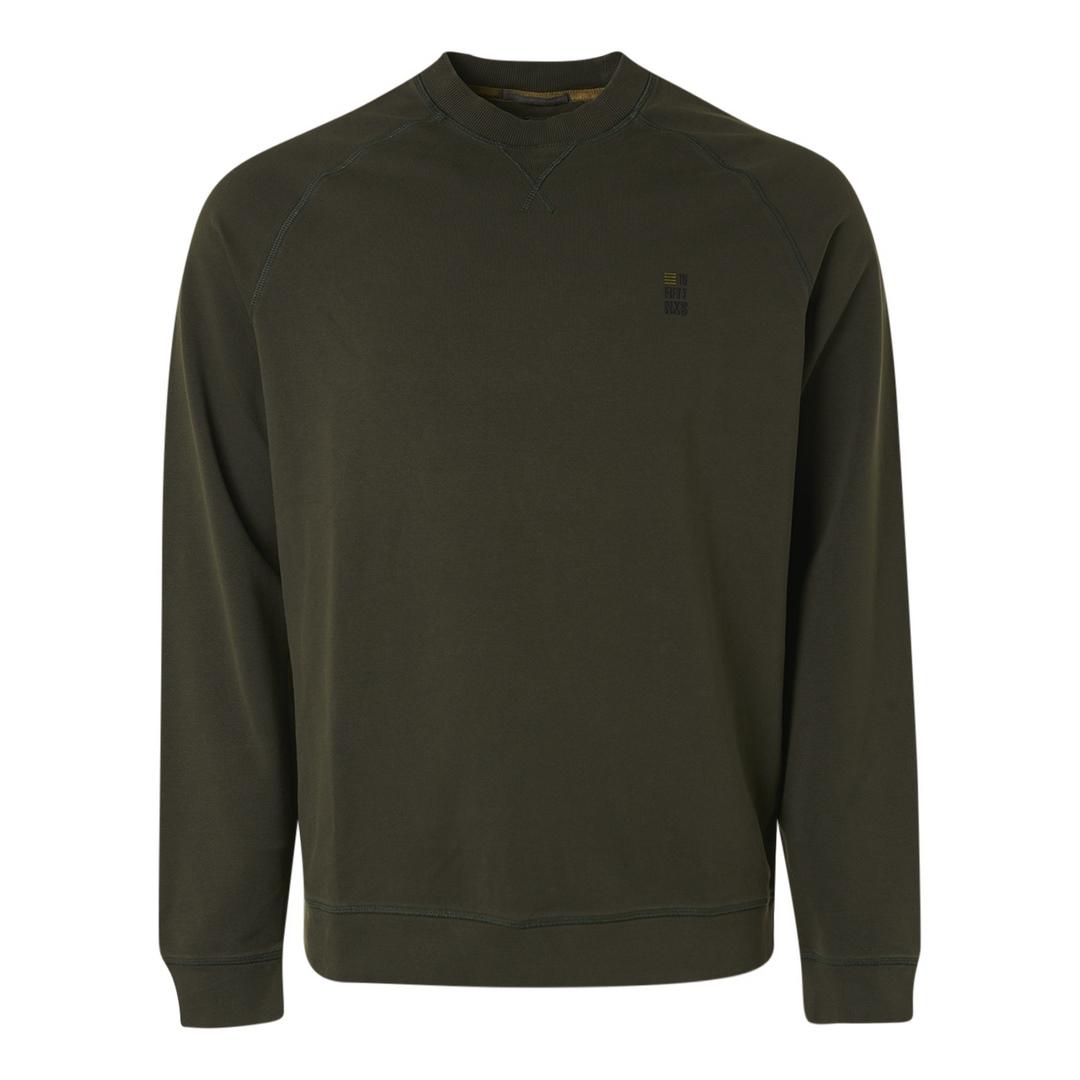No Excess Sweat Shirt Sweater Crewneck Stone Washed 12180880 152 Moss