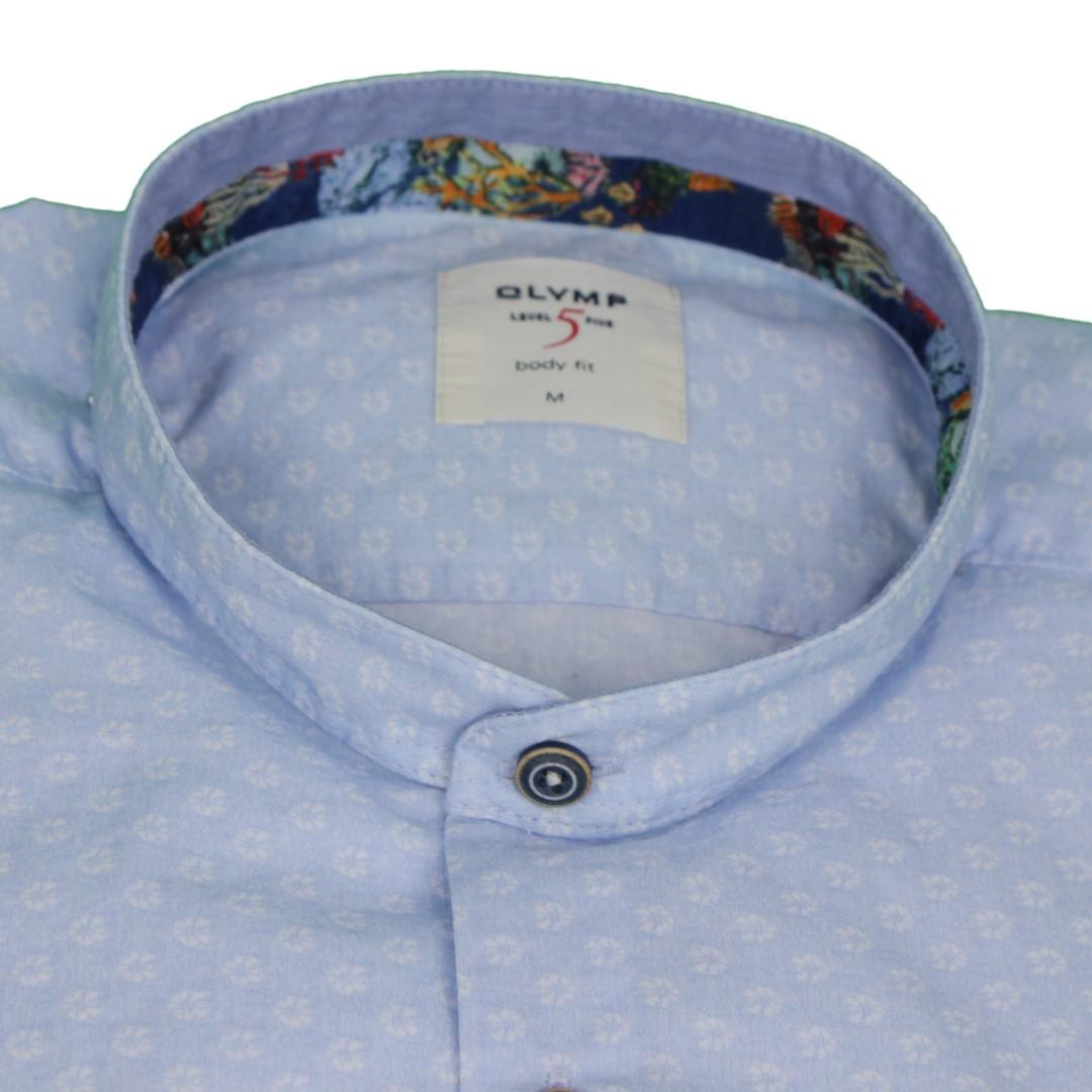 Olymp Herren Casual Level 5 Freizeit Hemd blau gemustert 3031 54 11