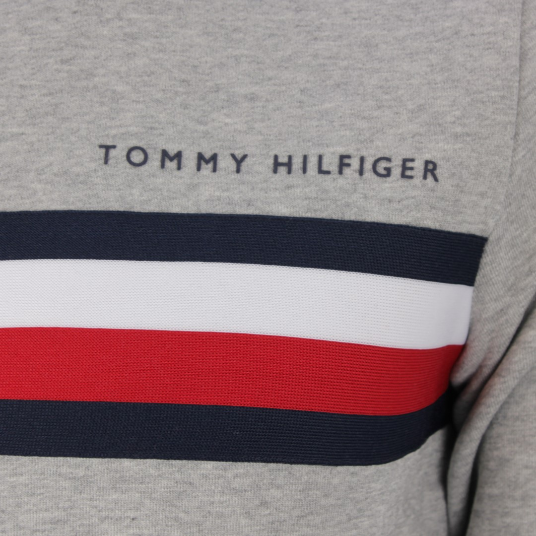 Tommy Hilfiger Herren Sweat Pullover Pulli grau MW0MW14758 PG5 medium grey heaather
