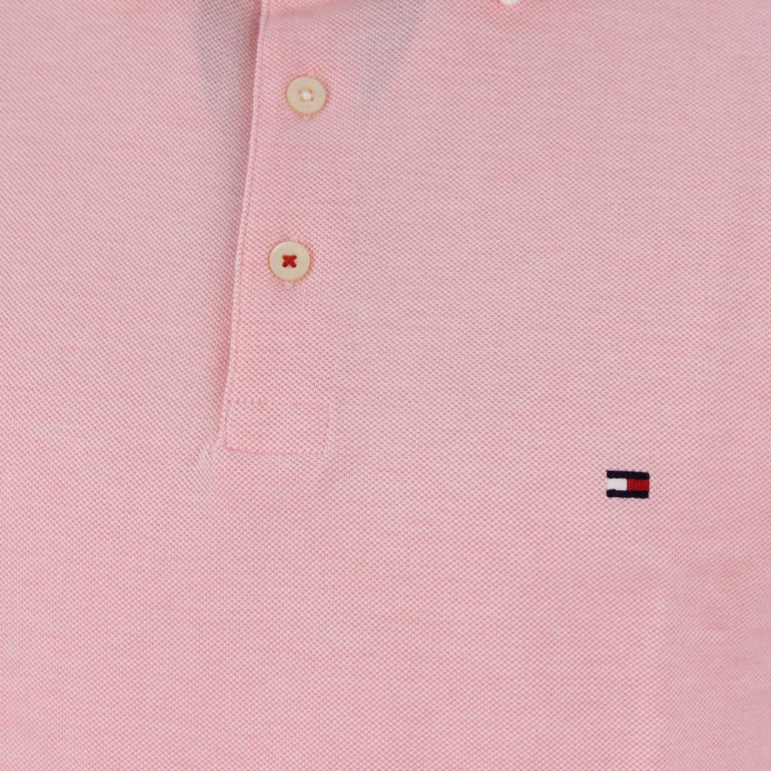 Tommy Hilfiger Herren Polo Shirt rosa unifarben MW0MW13076 TH8