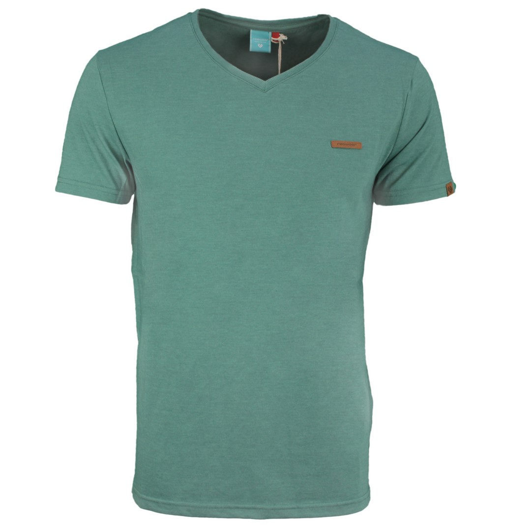 Ragwear Herren T-Shirt Venie grün unifarben 2112 15002 5036 dusty green