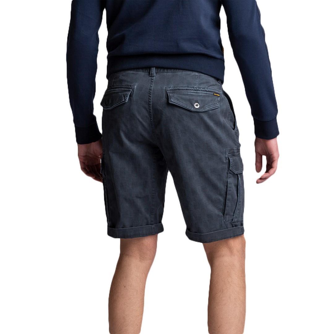 PME Legend Cargo Short Skyridge Short blau kariert PSH212658 5108 Check Dessin