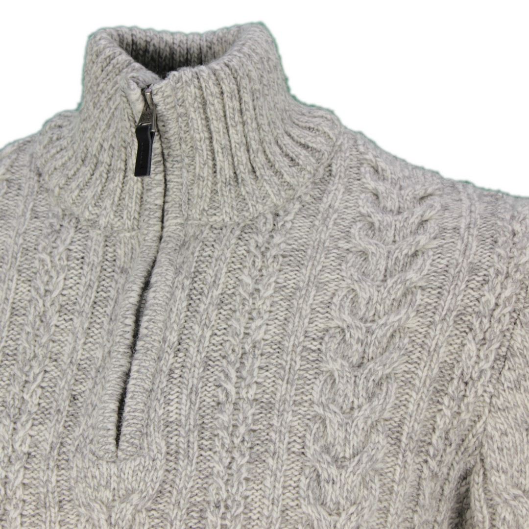 Superdry Strick Pullover Troyer Jacob Henley Jumper grau M6110041A THU off white