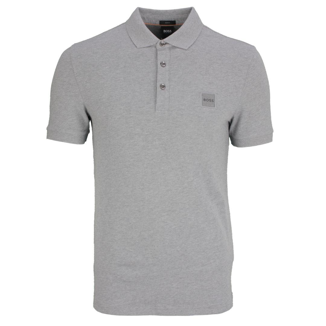 Hugo Boss Herren Polo Shirt Poloshirt Passenger grau unifarben 50462781 051 Light Pastel Grey