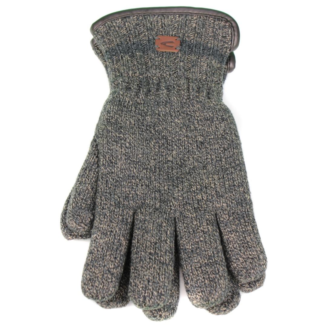 Camel active Herren Handschuhe blau beige meliert 8G31 408310 18