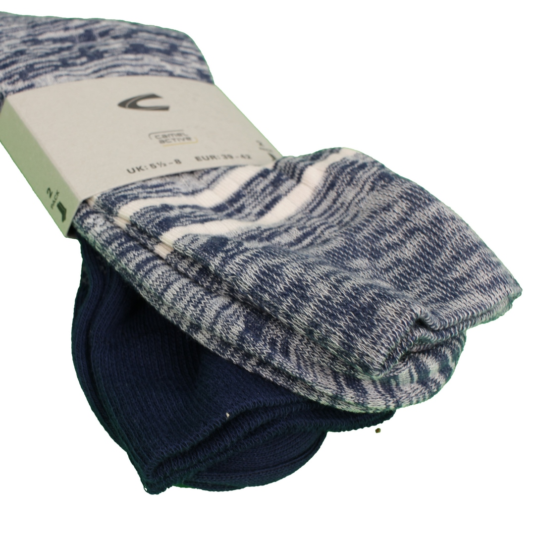 Camel active Socken Doppelpack blau 62113 396