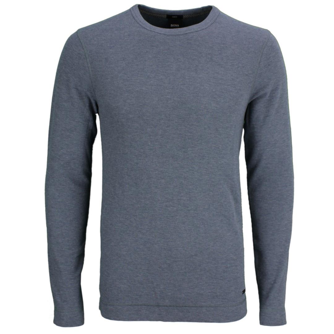BOSS Hugo Boss Herren Strick Pullover blau grau Tempest 50401846 026 grey