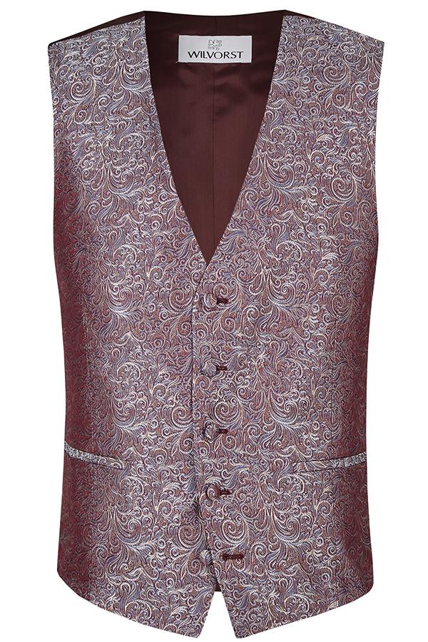 Wilvorst Weste Hochzeitsanzug After Six  rot gemustert 417120 87 055