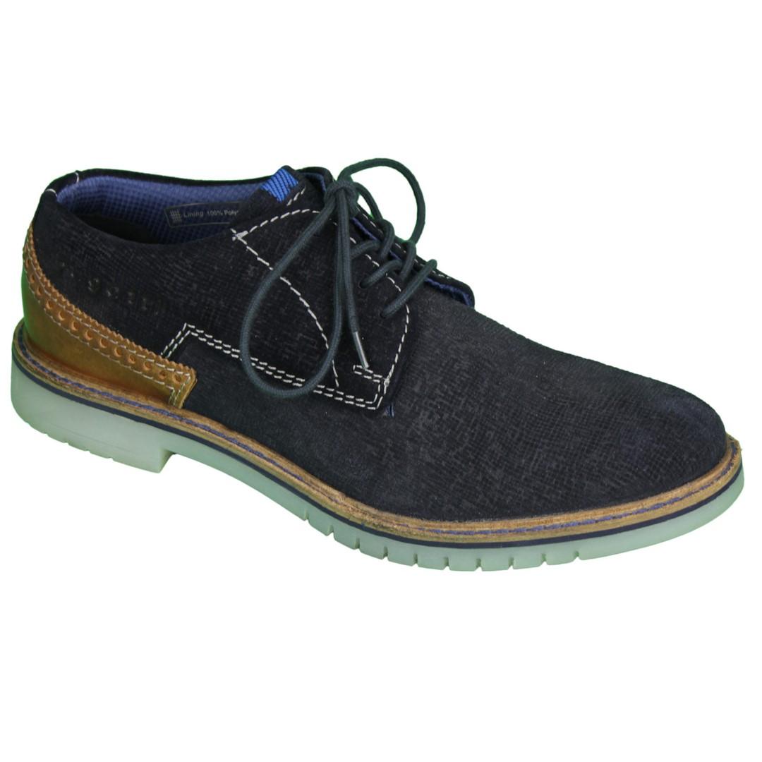 Bugatti Herren Schuhe Schnürschuhe blau 312 83701 1400 4100 dark blue