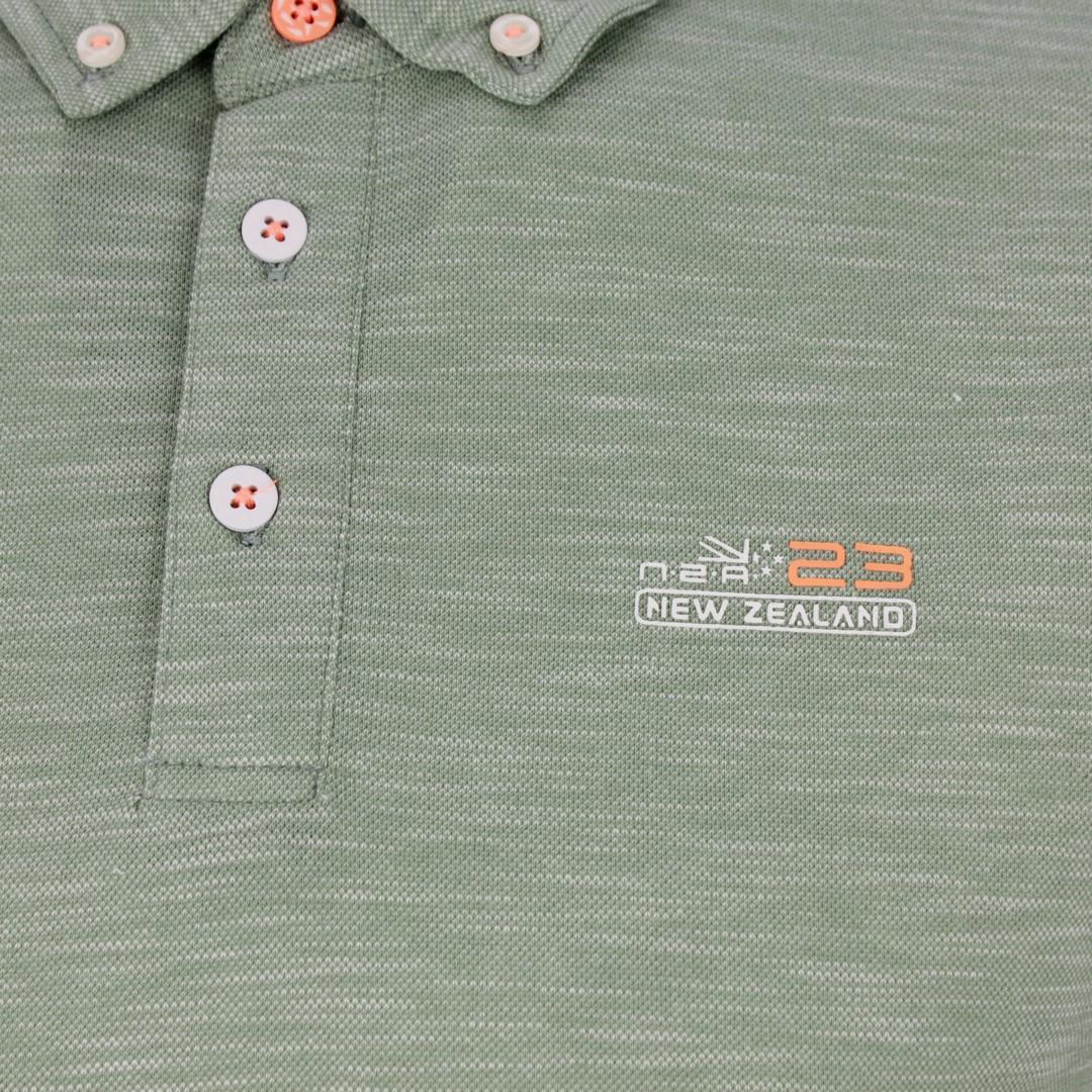 New Zealand Auckland NZA Polo Shirt grün meliert 20CN127 494 khaki