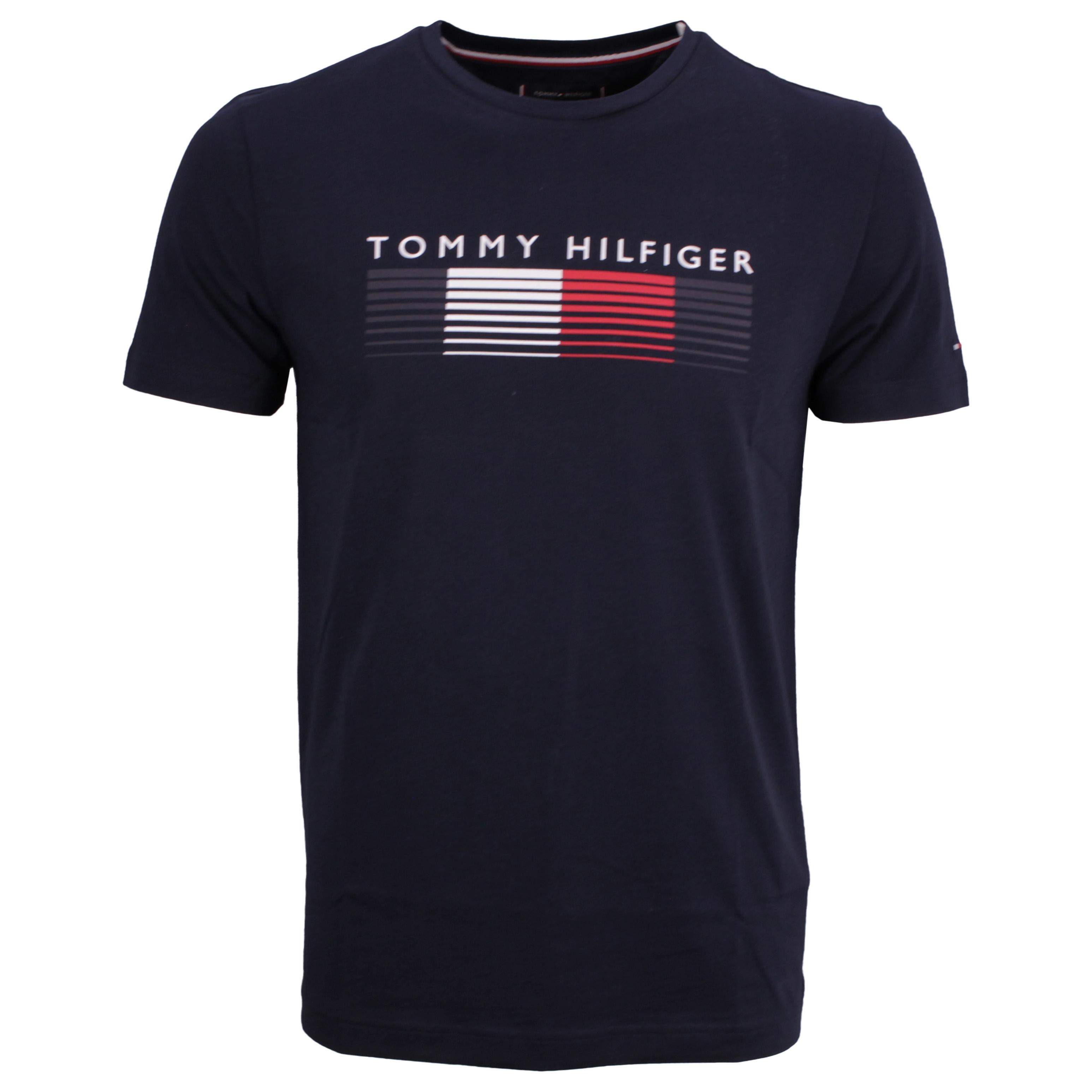 Tommy Hilfiger T-Shirt Shirt kurzarm Fade Graphic Corp Tee blau MW0MW21008 DW5-blue