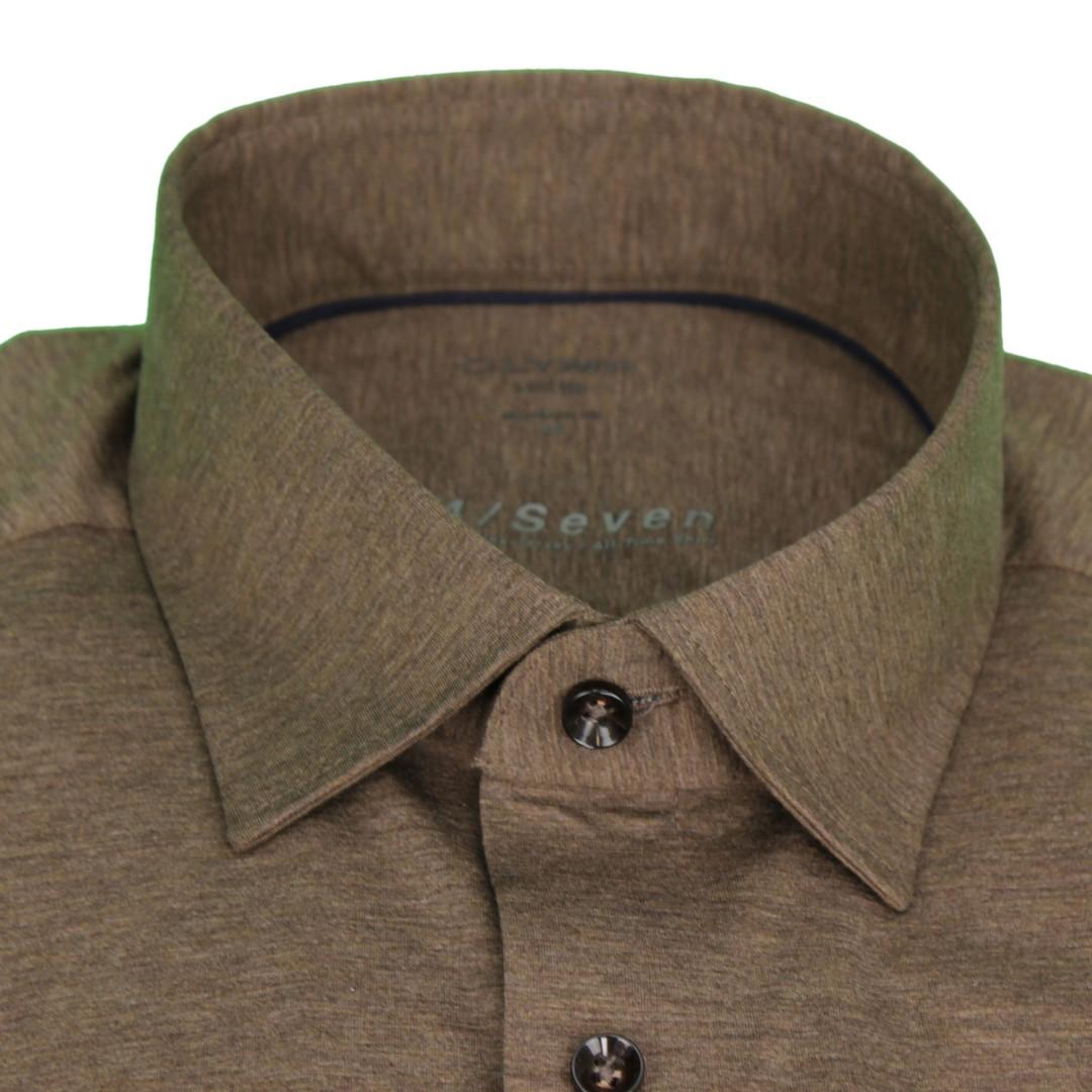 Olymp Hemd 24/Seven Seven Dynamic Flex Jersey All Time Shirt braun 200864 28