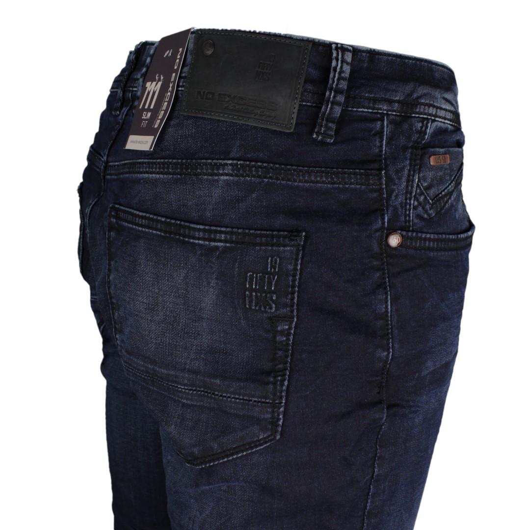 No Excess Jeans Hose 711 Slim Fit Jogg Denim Indigo blau N711JOG06 indigo sweat