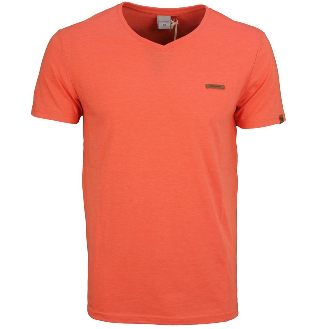 Ragwear Herren T-Shirt Venie rot unifarben 2112 15002 4005 Coral