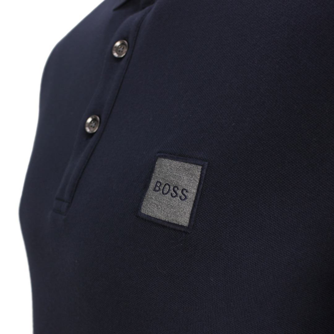 Hugo Boss Herren Polo Shirt Poloshirt Passenger blau unifarben 50462781 489 Open Blue