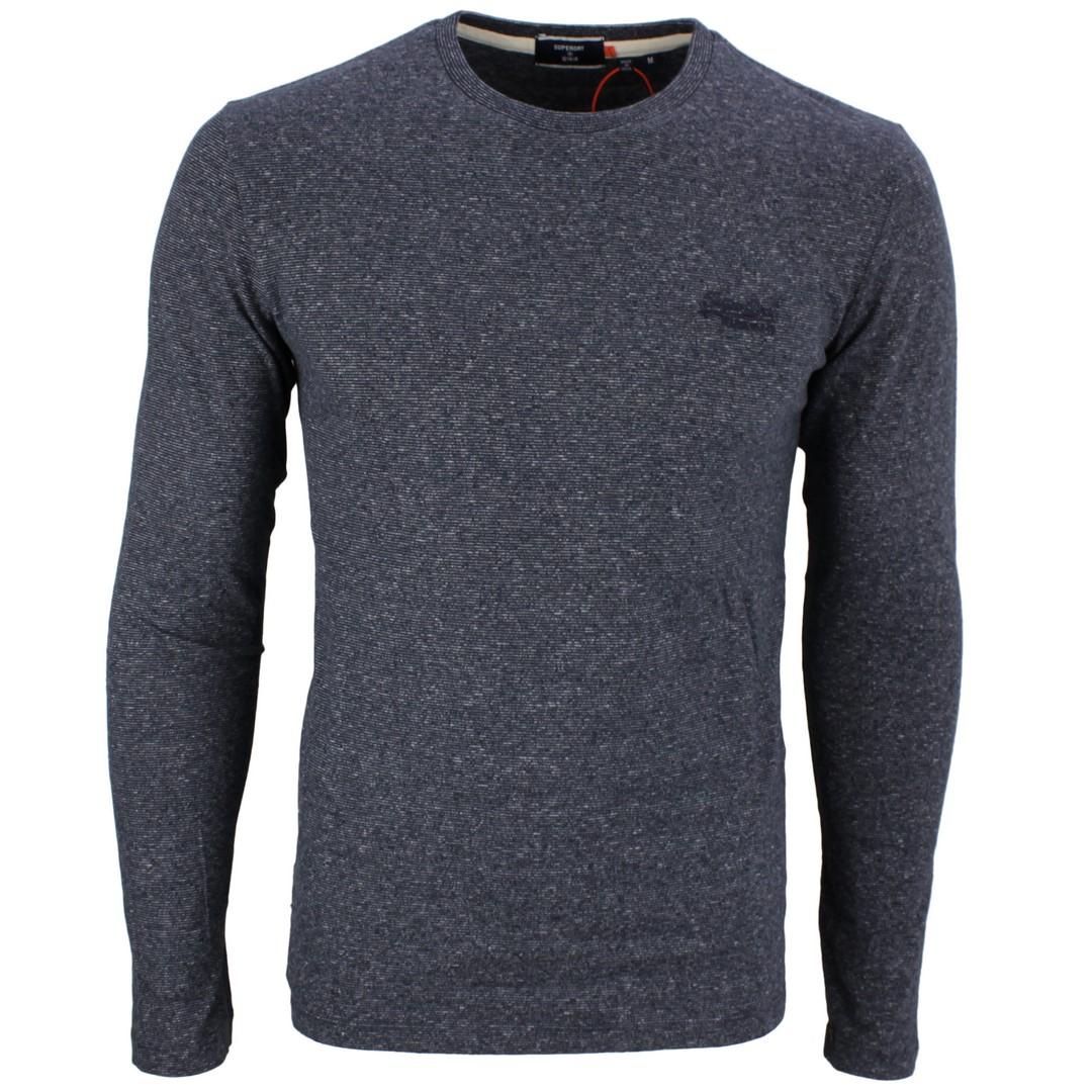 Superdry langarm Shirt OL Vintage EMB Top blau M6010122A 3ZG Eclipse Navy Feeder