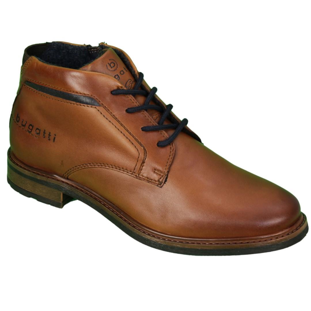 Bugatti Herren Schuhe Stiefel Boots Marcello Evo braun 311 A1730 4000 6300 cognac