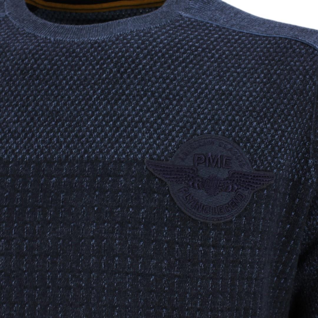 PME Legend Herren Strick Pullover marine blau strukturiert PKW207311 5288