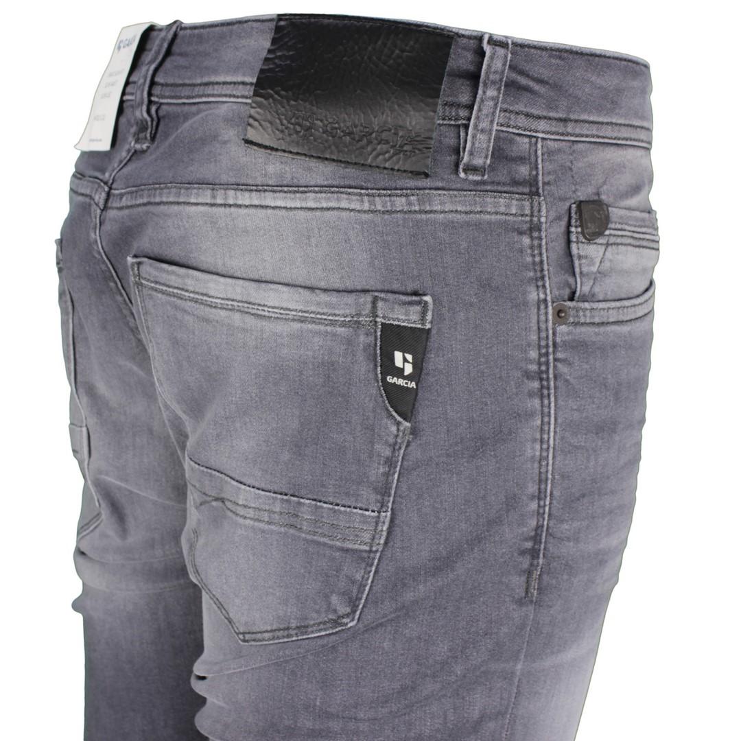 Garcia Herren Jeans Hose Jeanshose Slim Fit Stone washed grau Savio 630 7020