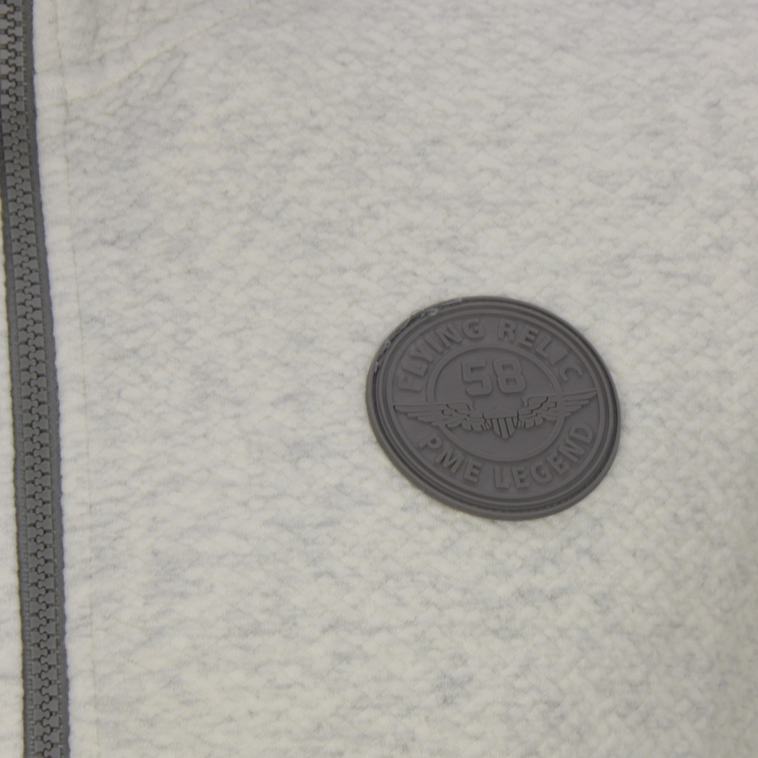 PME Legend Herren Sweat Jacke grau strukturiert PSW205406 910