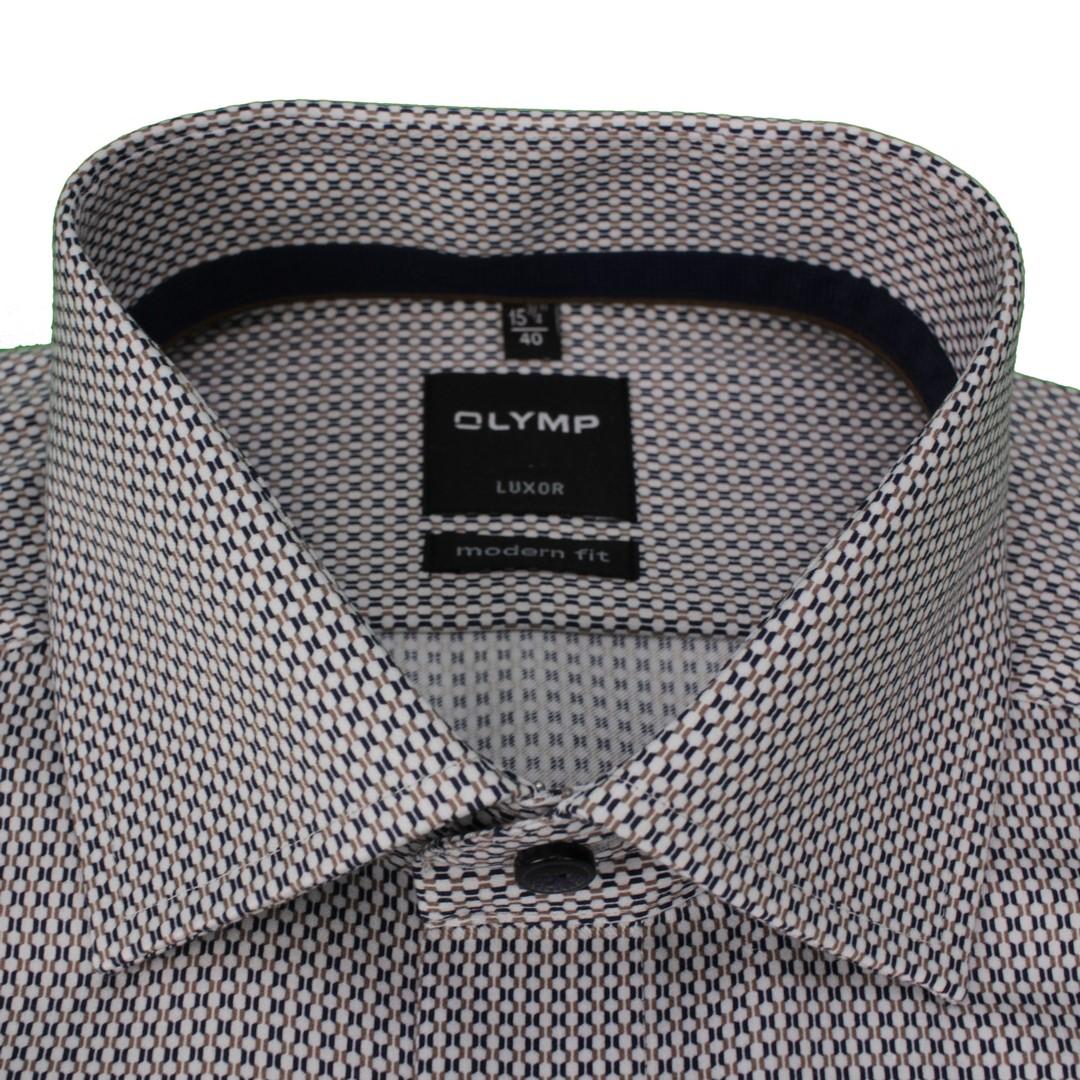 Olymp Herren Luxor Modern Fit Hemd mehrfarbig gemustert 138174 28
