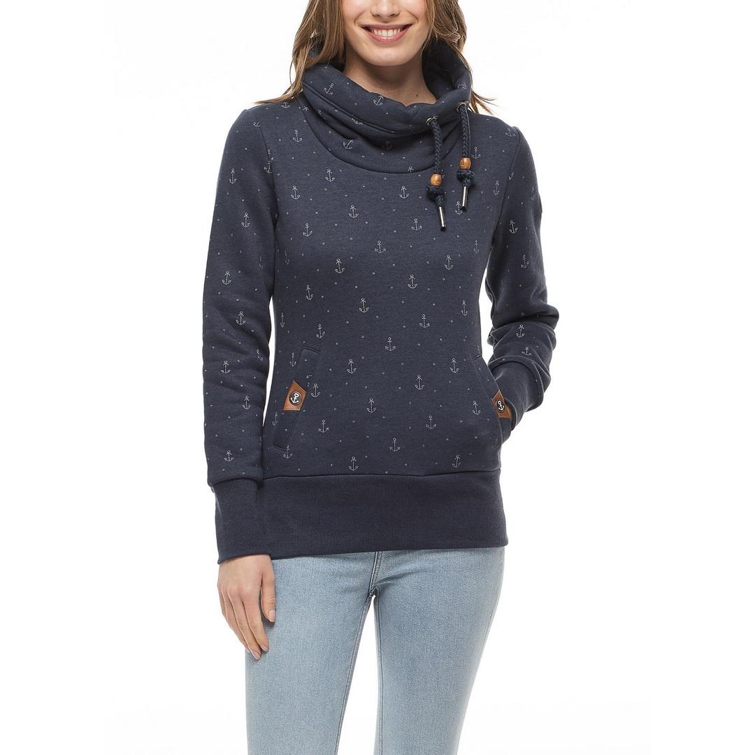 Ragwear Damen Sweat Pullover blau Rylie Marina 2121 30014 2028 Navy