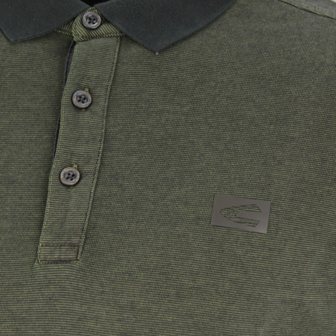 Camel active Herren langarm Shirt Langarmshirt Rugby grün gesteift 4P03 409306 39