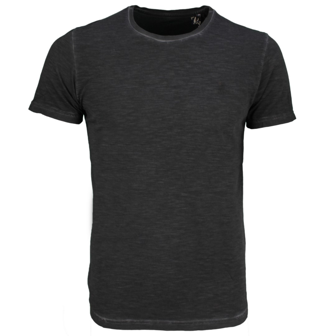 No Excess Herren T-Shirt schwarz unifarben 11350219S 020 black