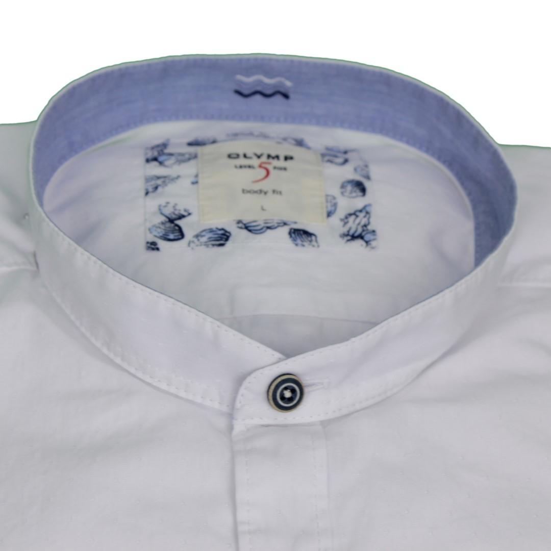 Olymp Herren Casual Level 5 Freizeit Hemd weiß unifarben 3027 54 00