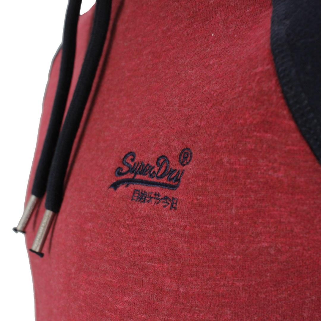 Superdry Sweat Pullover Hoodie M2011398A 6GO rhubarb Marl navy Vintage Logo EMB Baseball Hood